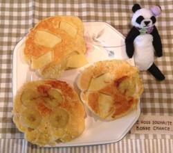 ワンちゃん用フルーツパンケーキ